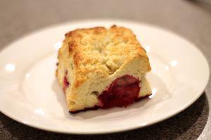 Buttermilk Scones with raspberries